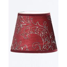 Patterned Burgundy Silk Candle Shade