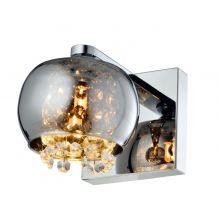 Adi Single Wall Light Smoked Glass