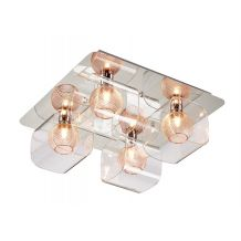Bron 4 Light Semi Flush Polished Chrome and Copper