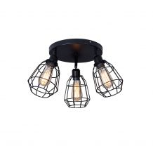 Shaw 3 Light Semi Flush