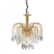 Waterfall 3 Light Ceiling Pendant Gold