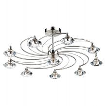 Luther 10 Lighting Semi Flush complete with Crystal Glass Satin Chrome