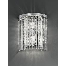 Athena Wall Lighting IP44 Crystal 2 Light