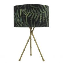 Bamboo Tripod Table Lamp Antique Brass Lamp Base Only