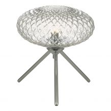 Bibiana Table Lamp Polished Chrome with Clear Glass Small