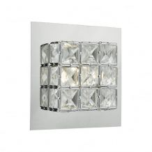 Imogen 1 Light Wall Bracket Polished Chrome Clear Led