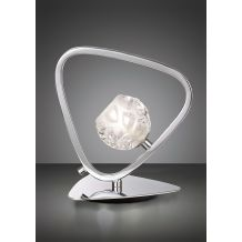 Lux Table Lamp 1 Light G9 Polished Chrome