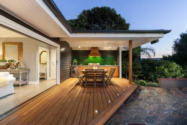 Use decking lights to light up your outdoor space